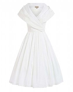 bridal vintage φόρεμα chic taffeta 50s off white