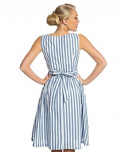 vintage cute φόρεμα antique stripe Audrey ... 3f1d91329cc