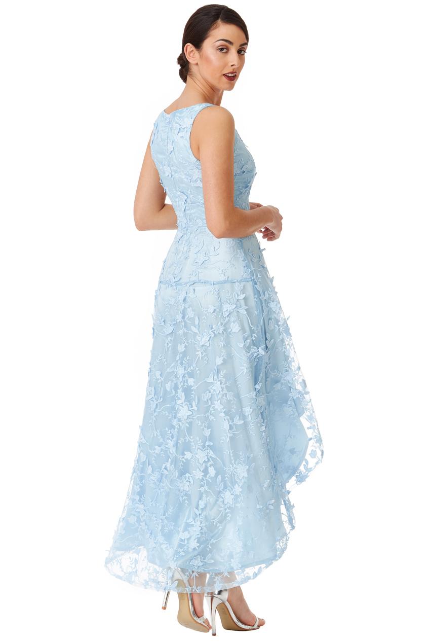 7d046ace3559 romantic sky blue φόρεμα high low 3d δαντέλα