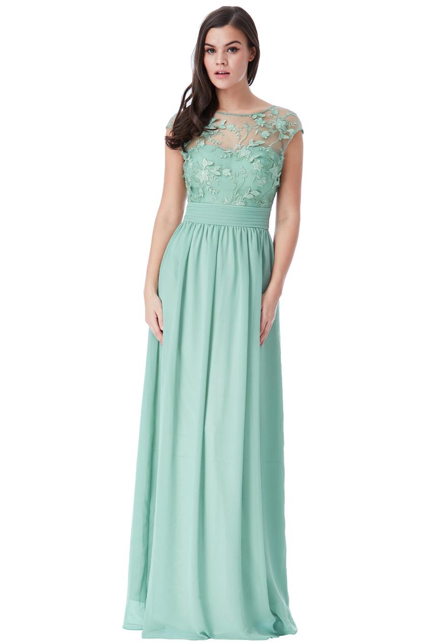 αέρινο empire φόρεμα 3d floral sweet green 6812f3d7771