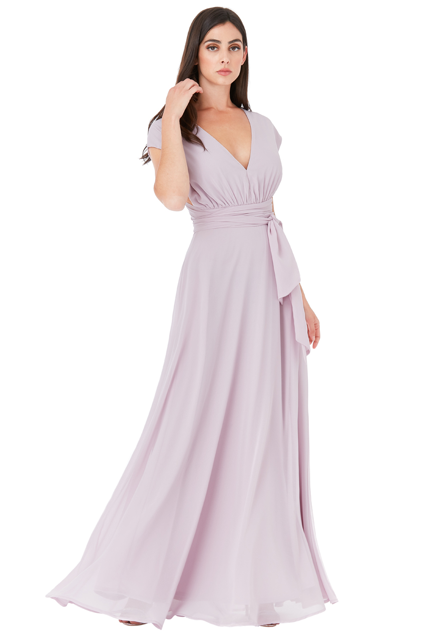 53fbff17d06b multiway maxi αέρινο chiffon φόρεμα Iris λιλά