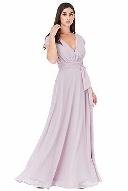 150cb89bc064 ... multiway maxi αέρινο chiffon φόρεμα Iris λιλά
