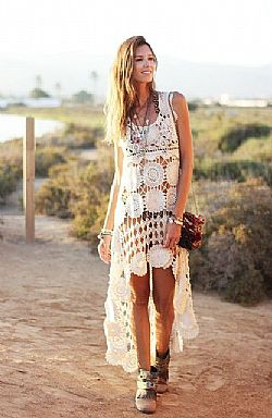 bohemian soul high low crochet kaftan