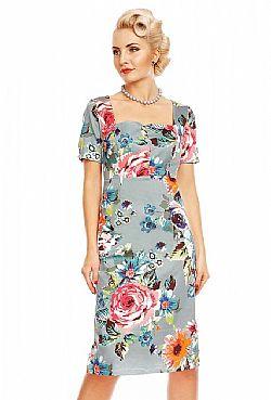 3ef9f05891d6 vintage φόρεμα Daisy floral pencil vintage φόρεμα Daisy floral pencil. SALE
