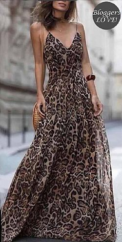 blogger essential leopard φόρεμα Savanna