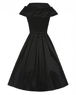 f11f9da49cf7 vintage φόρεμα chic taffeta 50s black ...