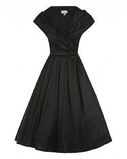 2510e279044f vintage φόρεμα chic taffeta 50s black vintage φόρεμα chic taffeta 50s black
