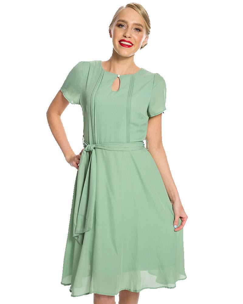 06661e172e4c vintage 40s φόρεμα Brenda σε πράσινο