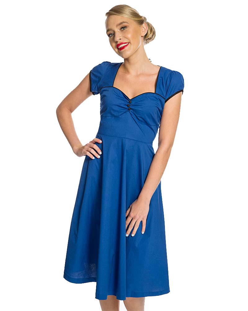 9aa9c89c645f vintage classic φόρεμα Bella blue