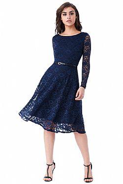 8a2c543951f0 timeless chic midi φόρεμα δαντέλα κλος σε μπλε navy