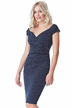 ... chic polka dot φόρεμα σε μπλε ad80d802cfe