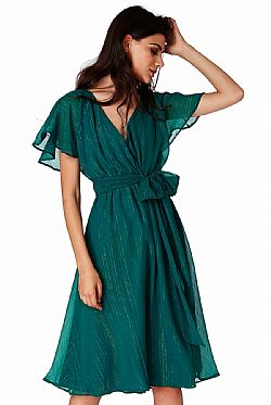 c742bca5b2fc αέρινο φόρεμα chiffon lurex stripe Patricia πετρόλ αέρινο φόρεμα chiffon  lurex stripe Patricia πετρόλ