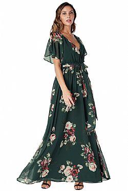8a0f4b846257 romantic maxi αέρινο φόρεμα Petunia green romantic maxi αέρινο φόρεμα  Petunia green