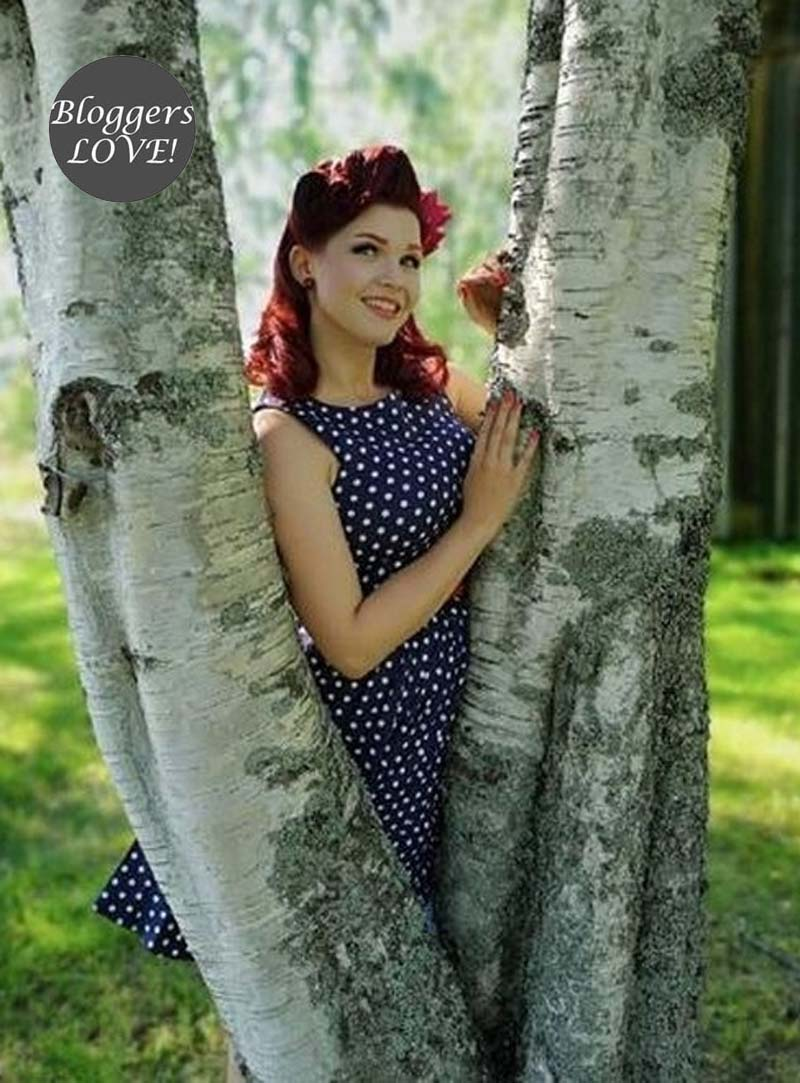 vintage pin up 50s polka dot φόρεμα Lola 491a00b57c6