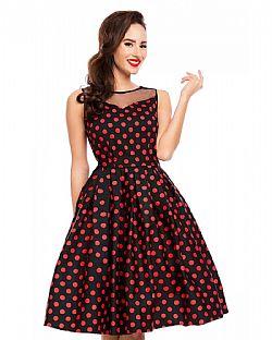 6405c0cddeaf ... 50s vintage pin up πουά φόρεμα Eliz