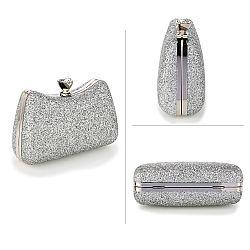 272d8c44e2 vintage silver glitter fairytale clutch ...