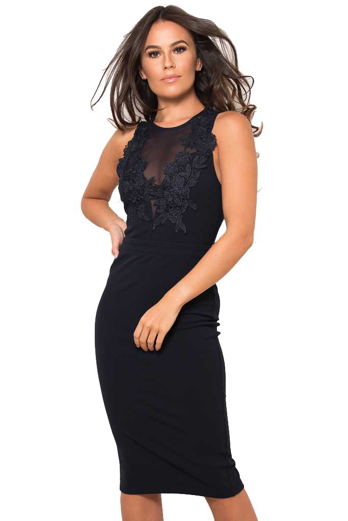 sexy mesh μπλε noir φόρεμα V tulle δαντέλα Elsa 5b0de85ce97