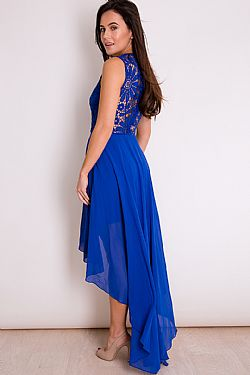 royal blue high low αέρινο φόρεμα Millie