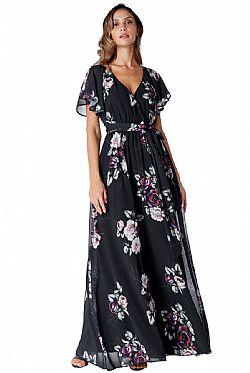 romantic maxi αέρινο φόρεμα Petunia black be64377de20