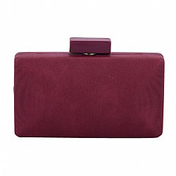 wine μπορντώ leatherette clutch