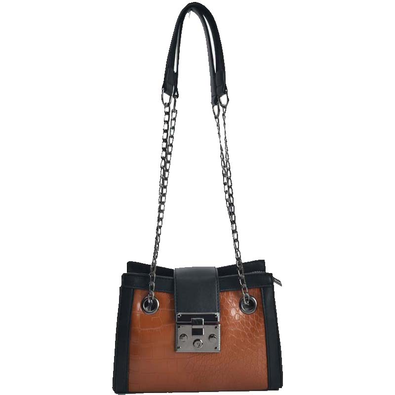 07de09f4a9 mini shoulder bag croco tears σε ταμπά μαύρο