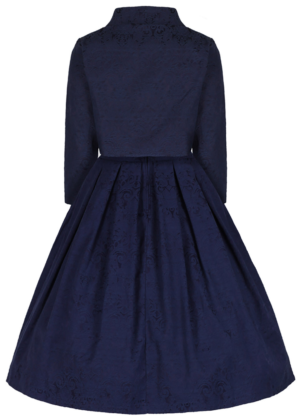 the ultimate Jackie O style twinset σε μπλε navy