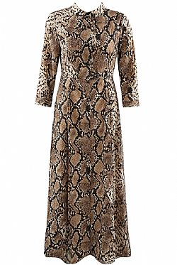 70s python maxi shirt dress Bianca