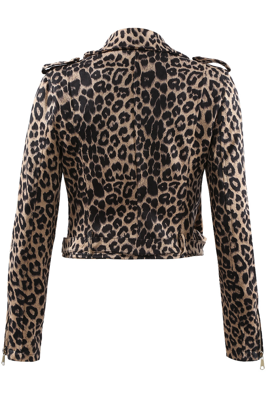 blogger & celeb must have leopard biker jacket