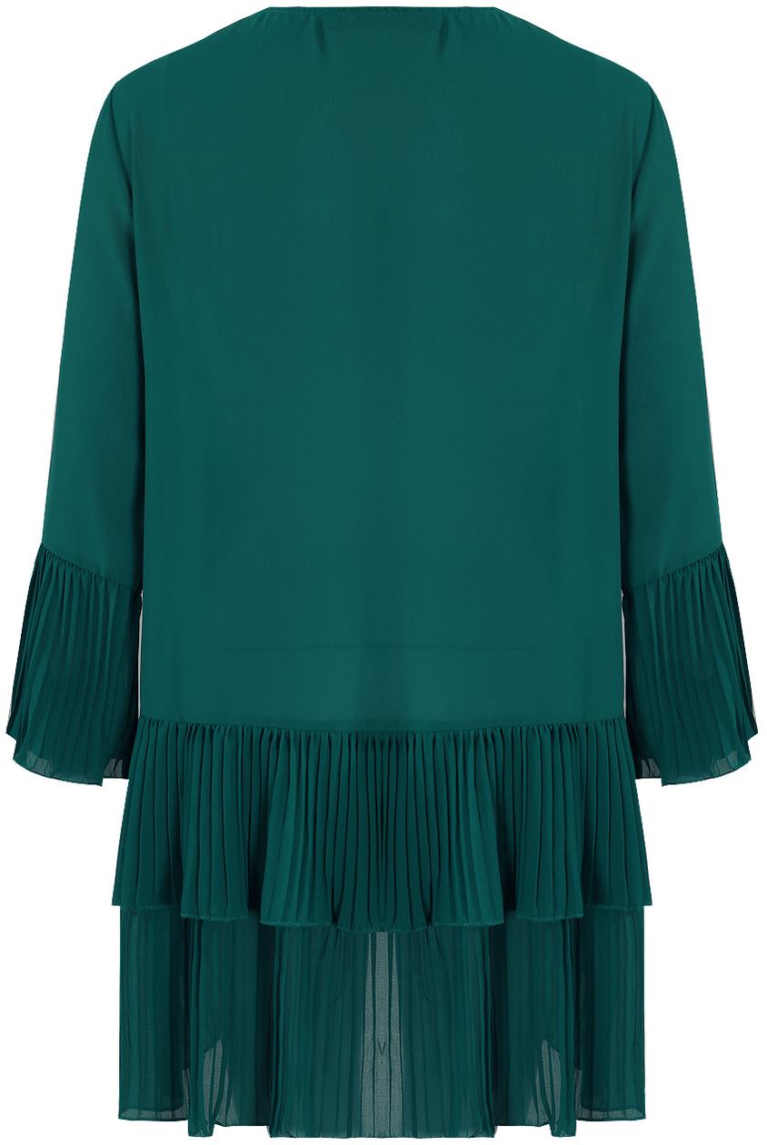 chic oversized sheer πουκαμίσα Florence green