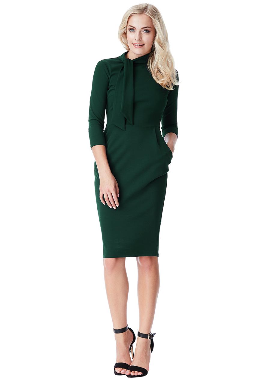 be857c5dc4d5 minimalist φόρεμα pocket pleat σε forest πράσινο
