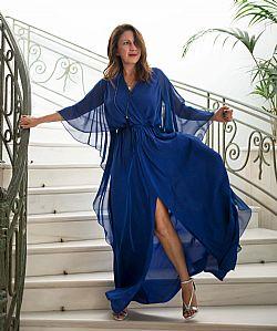 d11333a100e7 luxurious αέρινο φόρεμα cape Midnight in Paris