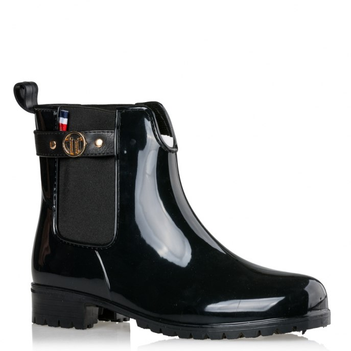 glossy rainy booties Penny σε μαύρο
