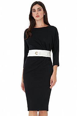 ... chic mod 60s φόρεμα Tami σε μαύρο  άσπρο 4c56c8e132e