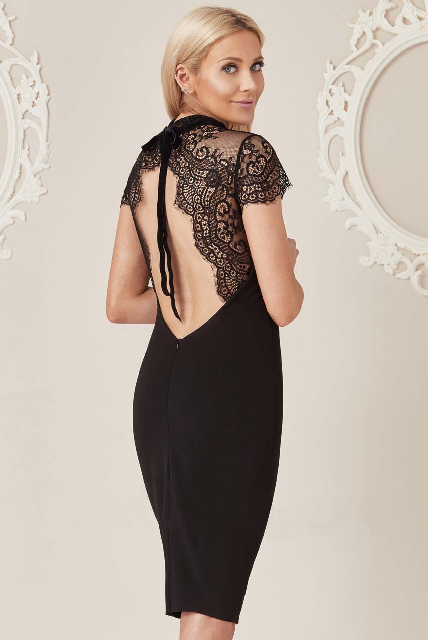 chic & glam lbd backless charm