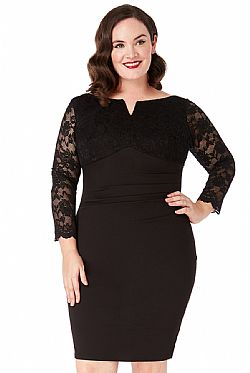 plus size chic lbd lace V