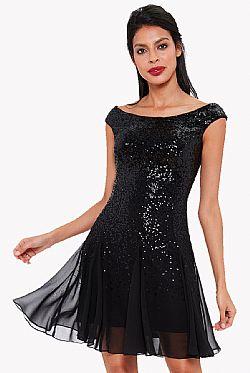 0155b0e31128 party φόρεμα mini paillette black party φόρεμα mini paillette black