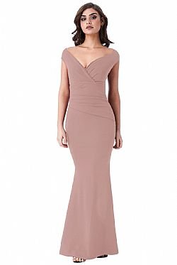 38217eb553de romantic minimal βραδινό maxi φόρεμα σε nude