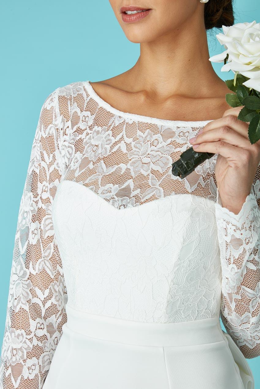 f1097685e57b bridal backless bow νυφικό φόρεμα offwhite