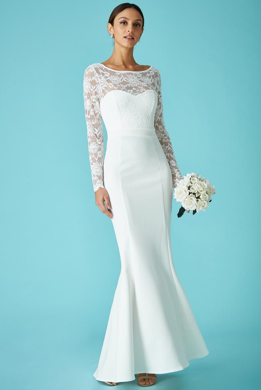 bridal backless bow νυφικό φόρεμα offwhite 7fb10c1f999