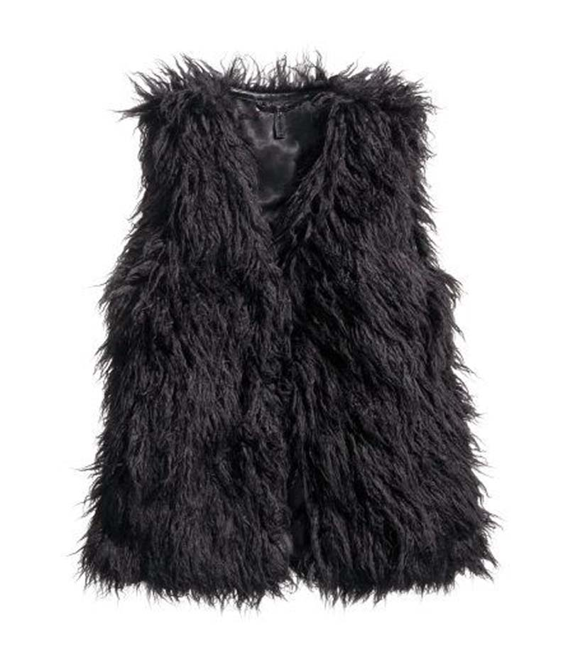 blogger faux fur γιλέκο Kelly black
