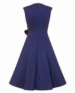 vintage 50s chic φόρεμα Grazia midnight blue