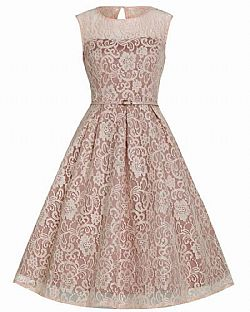 vintage romantic 50s chic φόρεμα Alina pink salmon