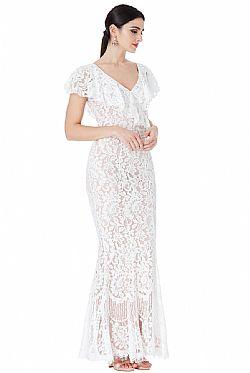 ... bridal fine chantilly maxi φόρεμα Karen white f02c349d78e