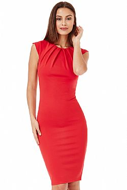 business chic φόρεμα hot red 9fa73769be6