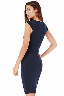 business chic φόρεμα navy blue ... 64cd1a9e9cd