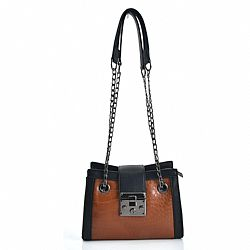 mini shoulder bag croco tears σε tabac