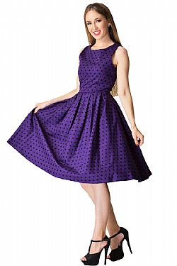 dfe7b71aeee1 ... vintage pin up φόρεμα Lolita purple πουά