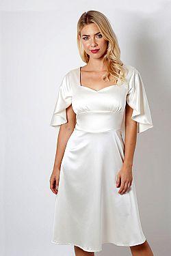 bridal satin vintage φόρεμα cape Bonny ... b11d0d13645