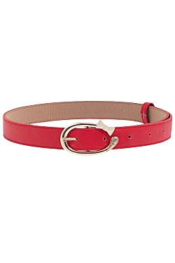 vintage red belt golden bow