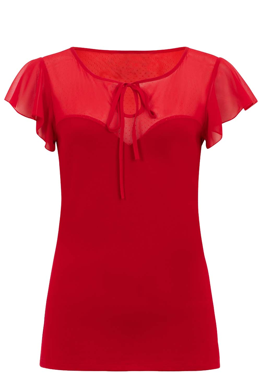 vintage styled top sweetheart red Alyssa